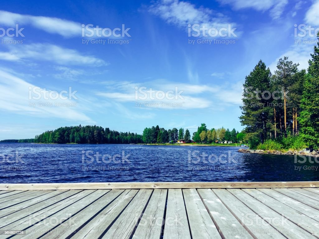 Finnish lake view from Sotkamo, Finland. royalty-free stock photo