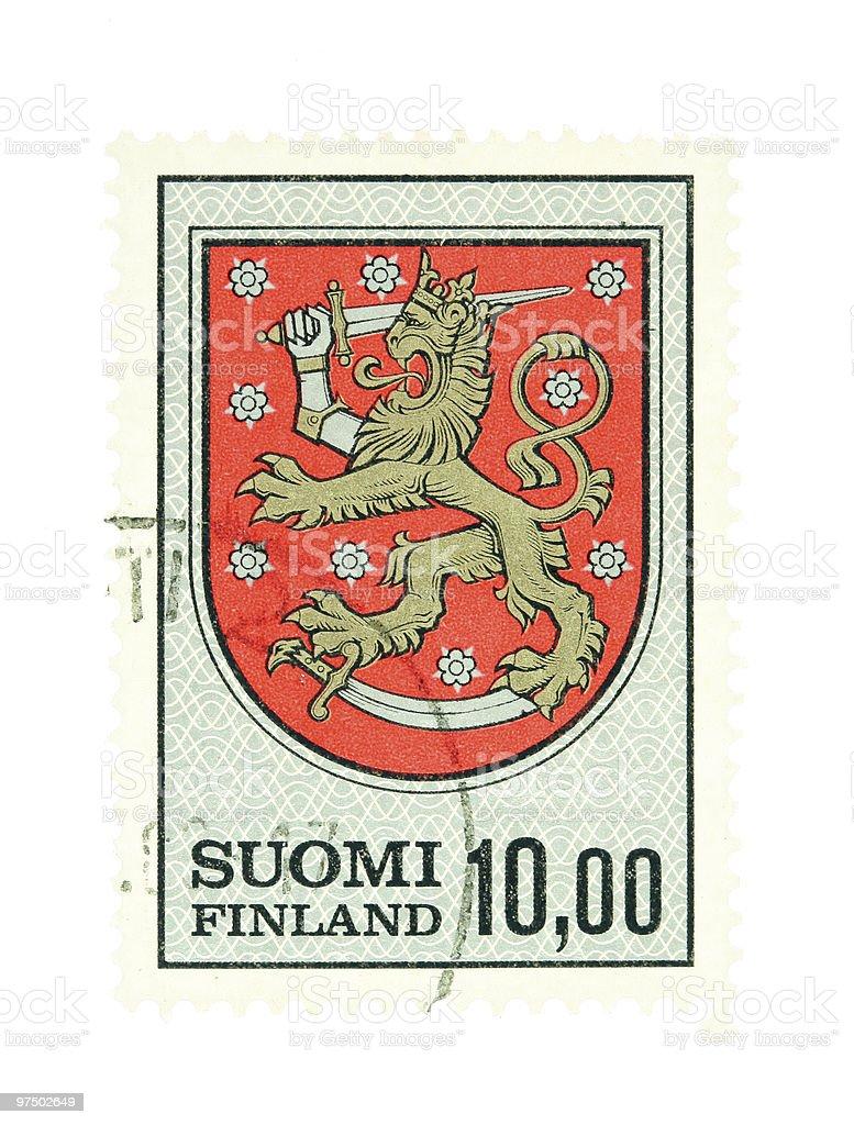 Finnish national emblem royalty-free stock photo