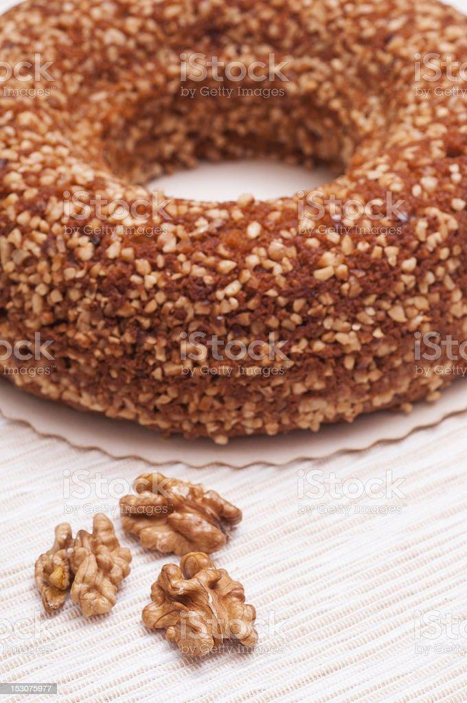 Finnish nut cake royalty-free stock photo