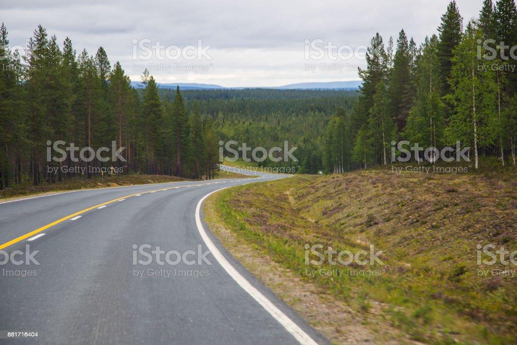 Finnische road – Foto