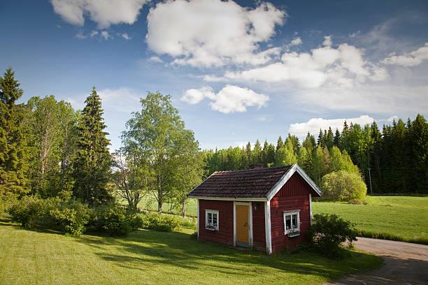 Finnish Sauna at Summer stock photo
