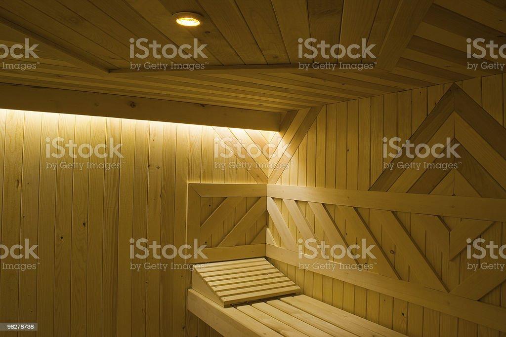 Finnish sauna royalty-free stock photo