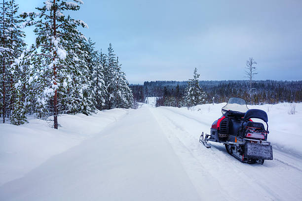 Finnish snowy lanscape stock photo