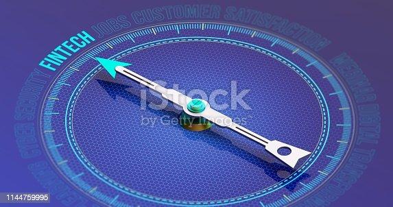istock Fintech Compass Concept 3D Rendering 1144759995