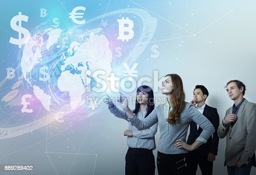 1019729218 istock photo FinTech(Financial Technology) concept. 889289402