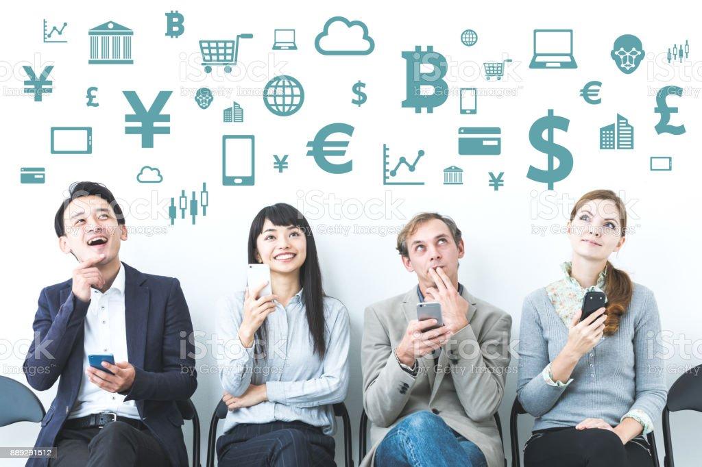 Concepto de FinTech (tecnología financiera). - foto de stock