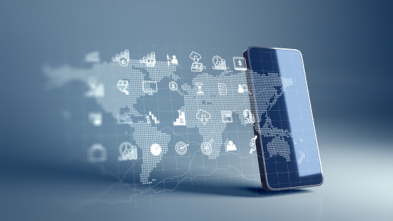 istock fintech icon and technology element on mobile phone 3d rendering 1152460122