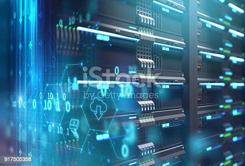 istock fintech icon  on abstract financial technology background . 917505358
