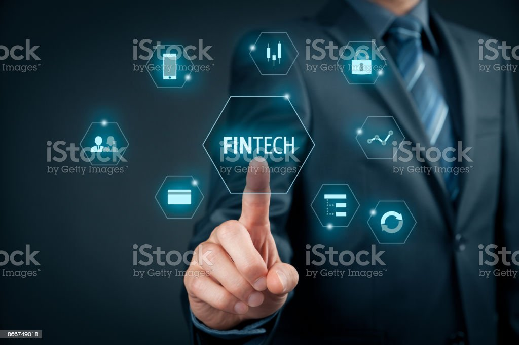 Fintech (financial technology) stock photo