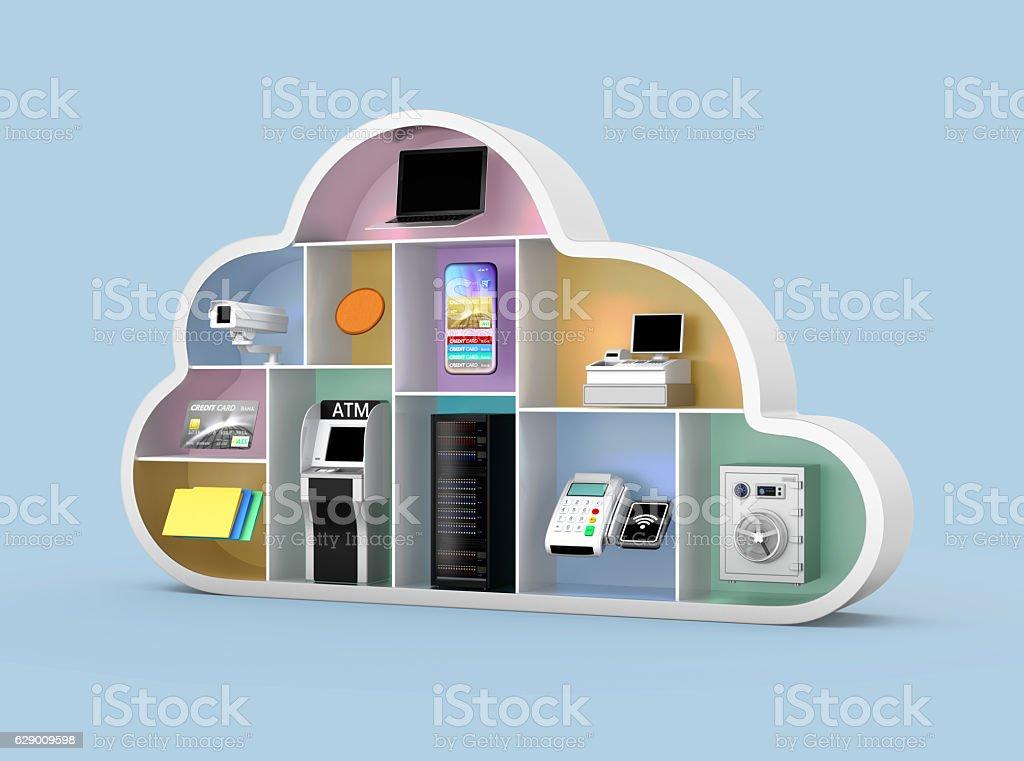 Fintech technology concept. royalty-free stock photo