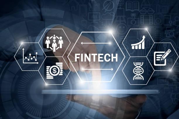 Fintech, the financial technology stock photo
