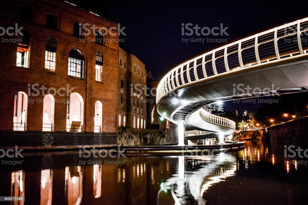 Finzels Reach  Bridge in Bristol stock photo