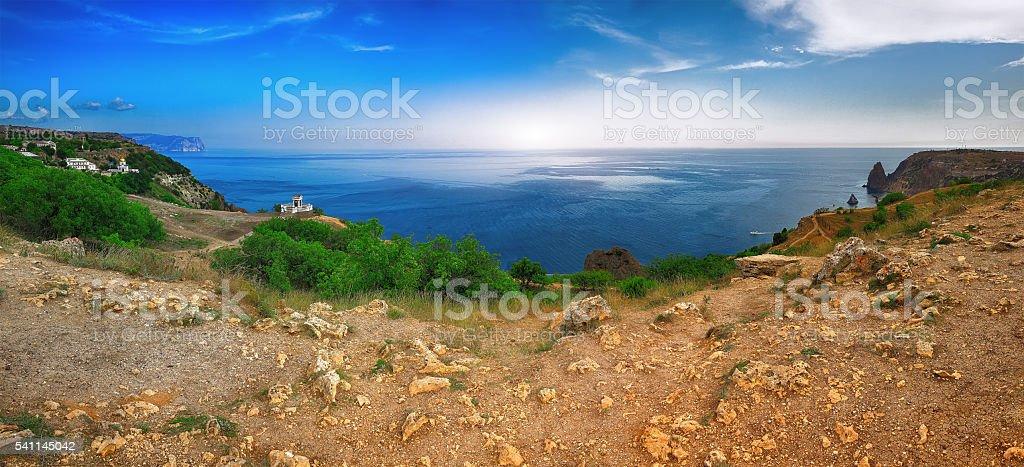 Fiolent , Crimea - sea landscape stock photo