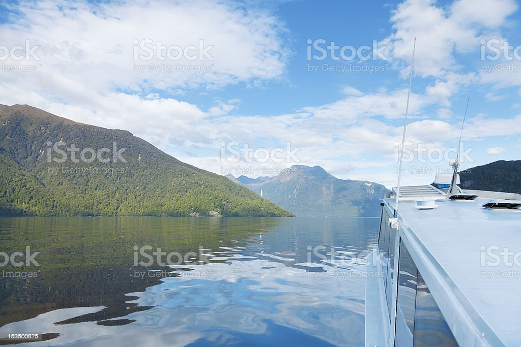 Fiord Boat Tour stock photo