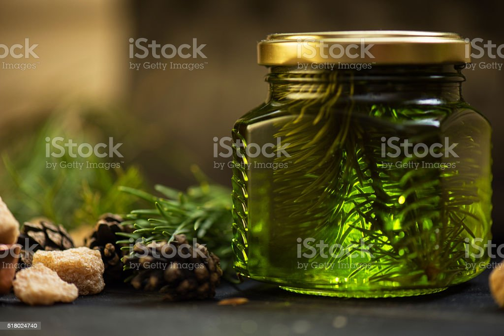 Fir tree bump jam stock photo