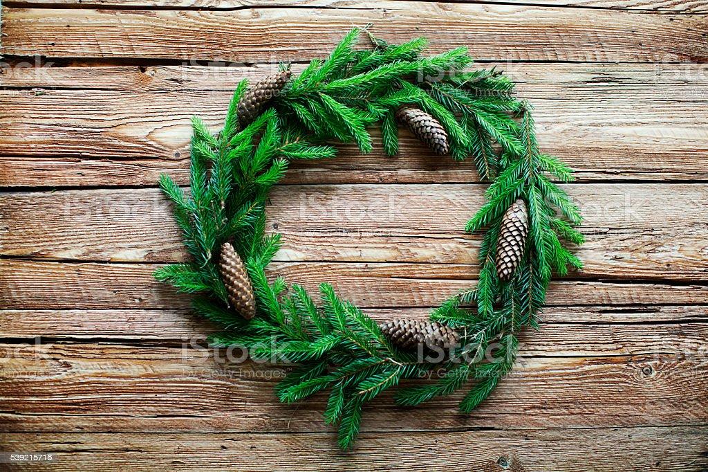 Fir wreath stock photo