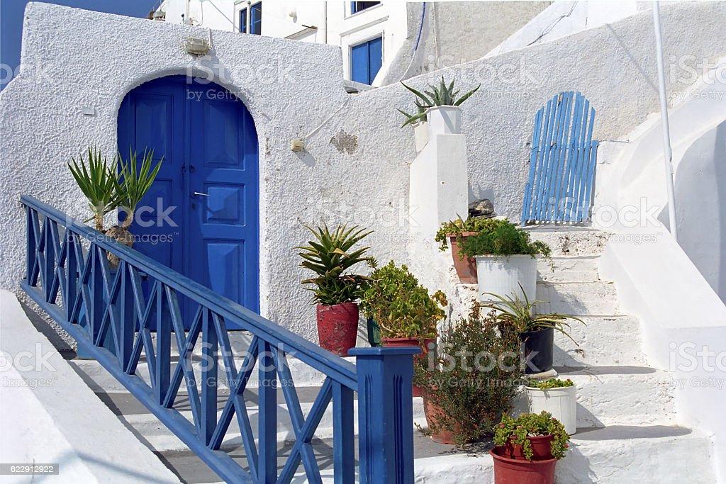 Fira (Santorini) Island, Greece stock photo