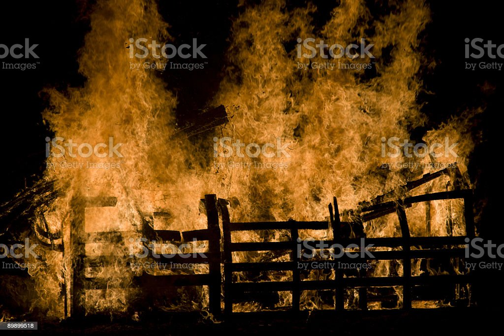 Fire 7 royalty-free stock photo