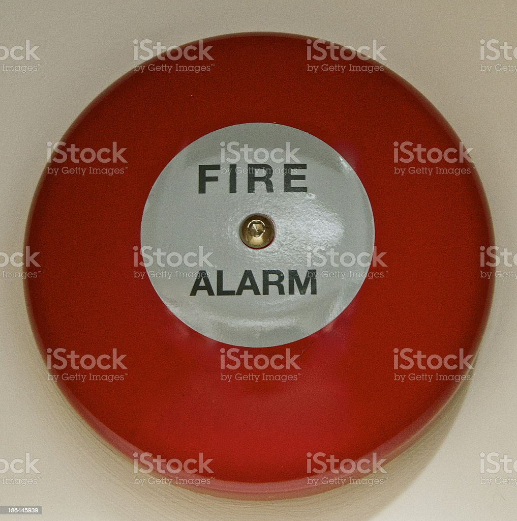 Fire Alarm Bell stock photo