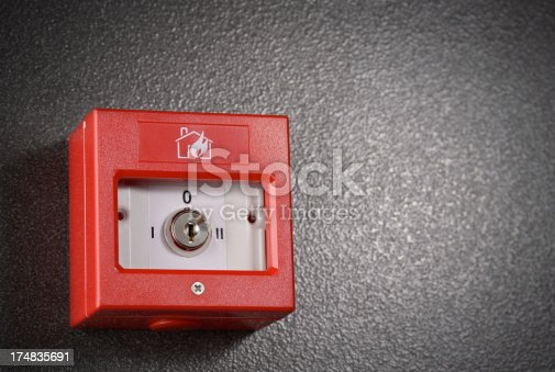 Red Fire Alarm Box mounted on wall