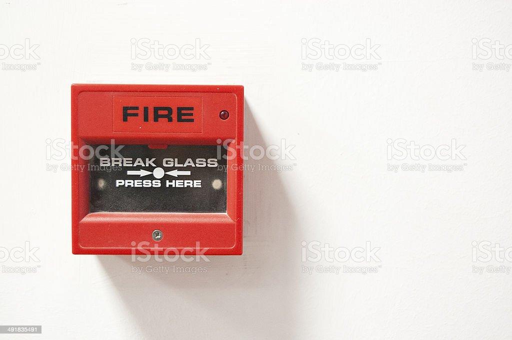Fire Alarm Button stock photo