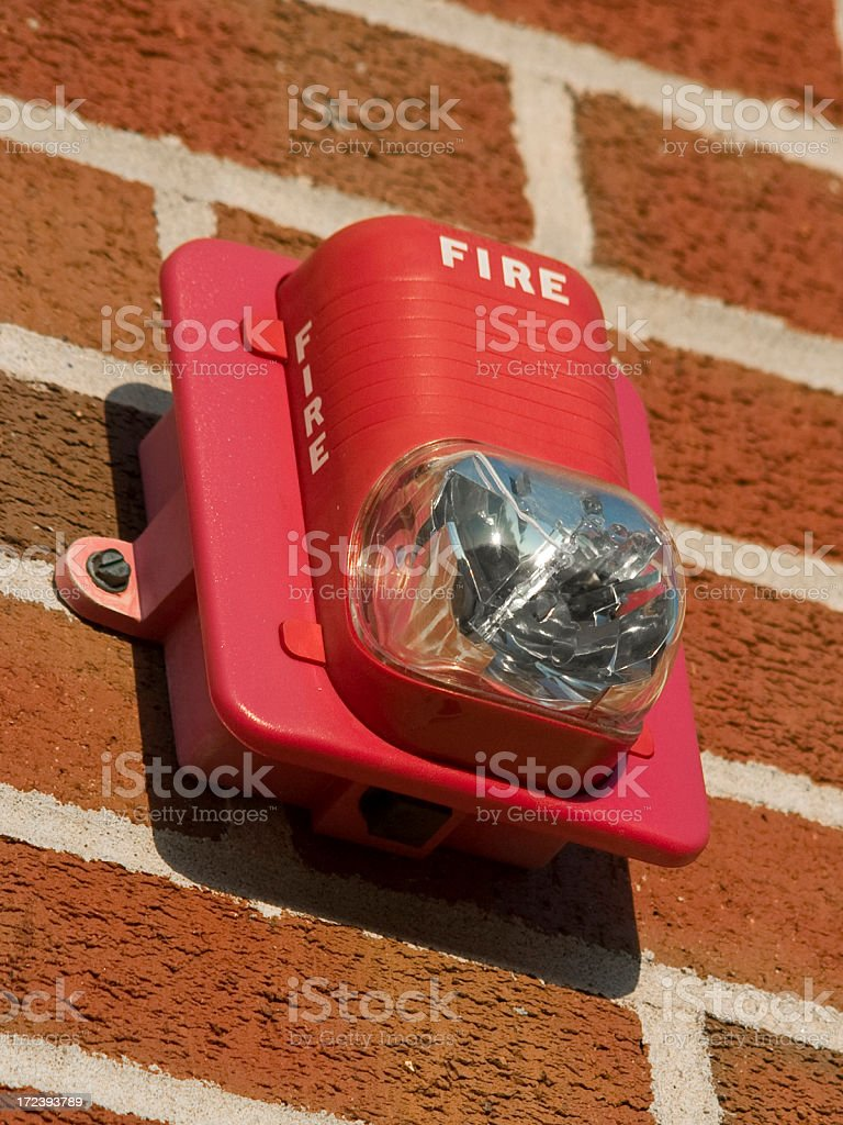 fire alarm flasher royalty-free stock photo