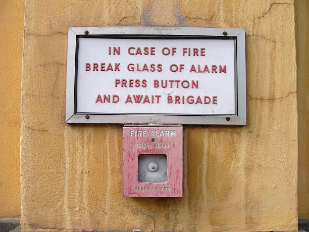 Alarma de incendios e - foto de stock