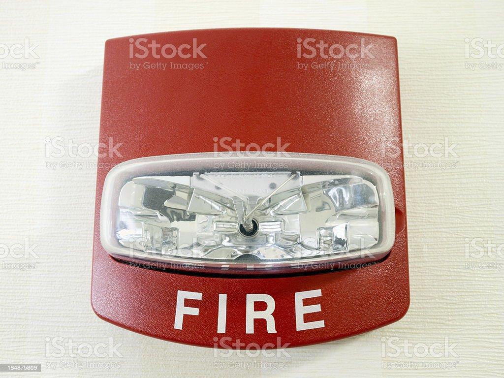 Fire Alarm Light stock photo
