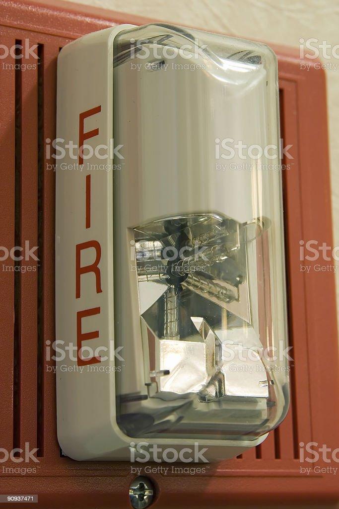 Luz de alarma de incendios - foto de stock