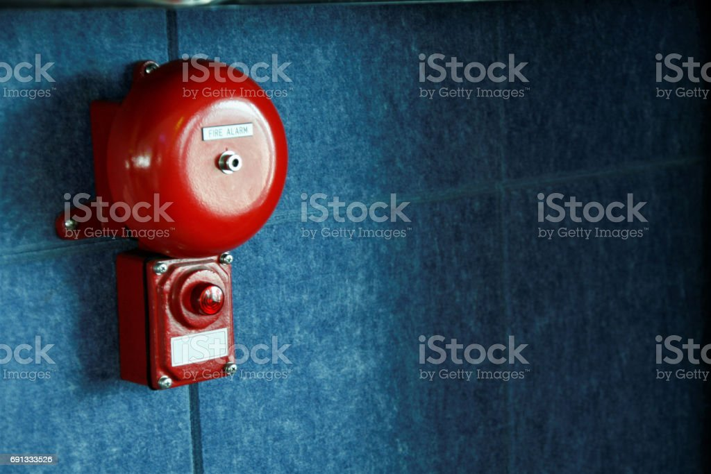 Fire alarm on the wall - fotografia de stock