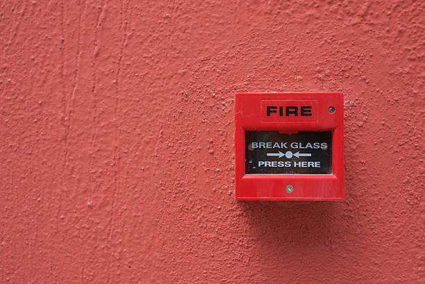 Alarma de incendios - foto de stock