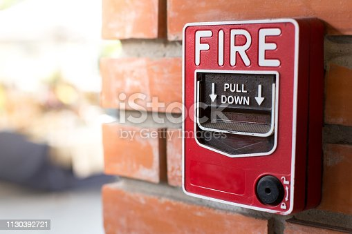 Fire Alarm Signal on Brick wall