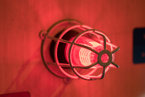 Fire Alarm Sounder Stock Photo - Download Image Now