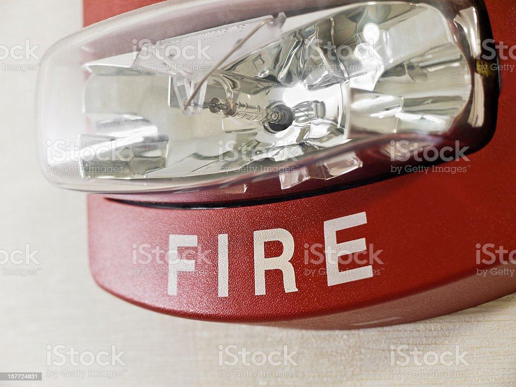 Fire Alarm Strobe Light stock photo