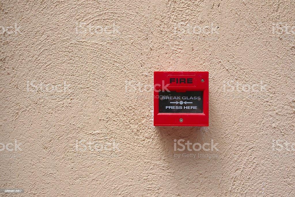 Interruptor de alarma de incendios - foto de stock