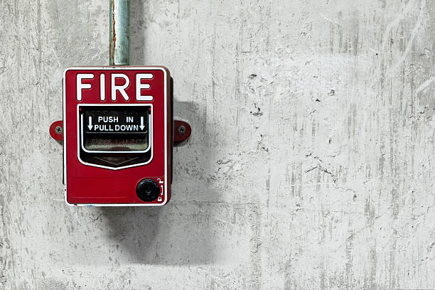 Allarme antincendio switch - foto stock