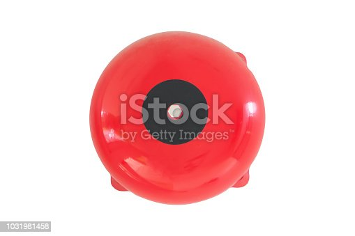 Fire alarm system isolated on white background with clipping path. fire safety box on the wall. alarm equipment detector