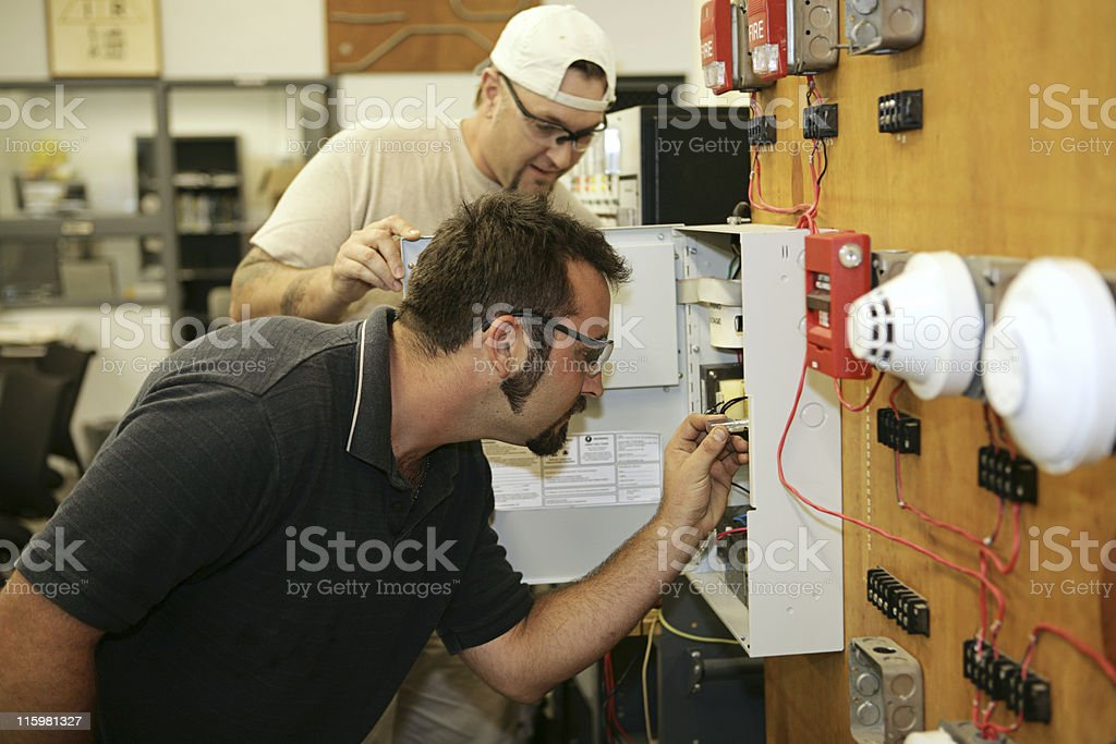 Fire Alarm Wiring royalty-free stock photo