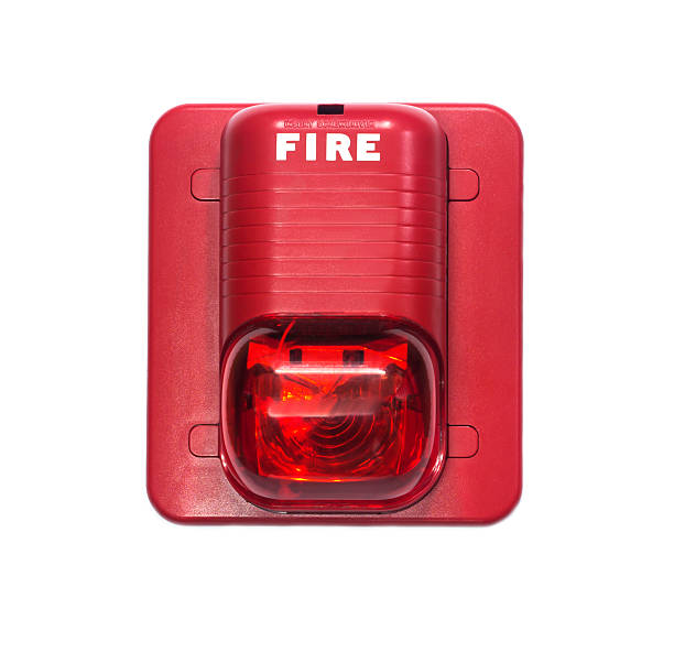 fire alarm with built in strobe light. A fire alarm with built in strobe light to alert in case of fire. individual event stock pictures, royalty-free photos & images
