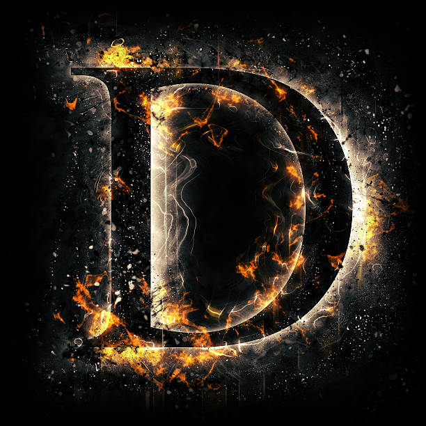 Royalty free letter d alphabet fire typescript pictures images and fire alphabet letter d stock photo altavistaventures Image collections