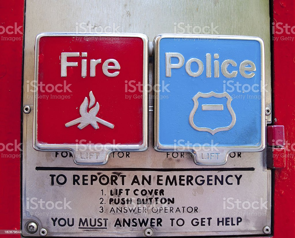 fire & police stock photo
