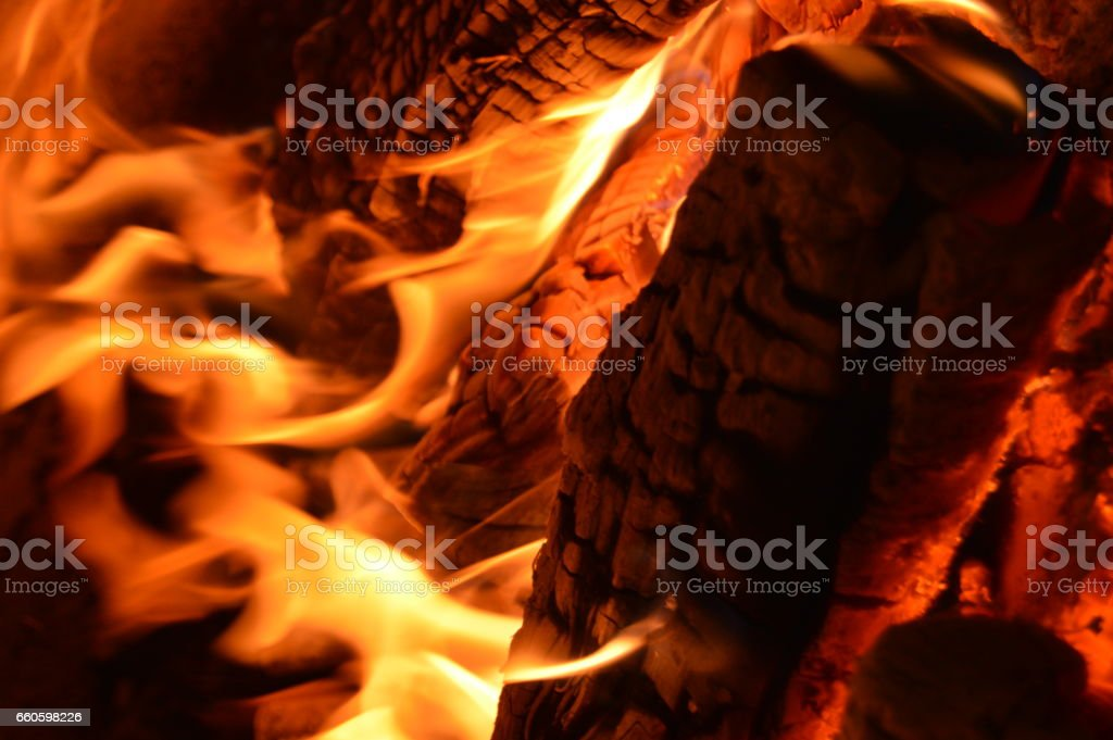 Fire and carbon royalty-free stock photo
