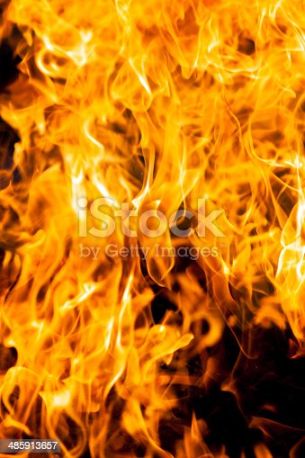 istock Fire and heat as a concept of danger 485913657