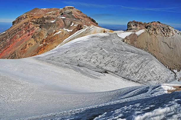 Fire and Ice on Izta Iztaccihuatl Volcano in Mexico orizaba stock pictures, royalty-free photos & images