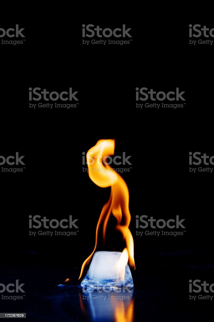 Fire and ice royalty-free stock photo