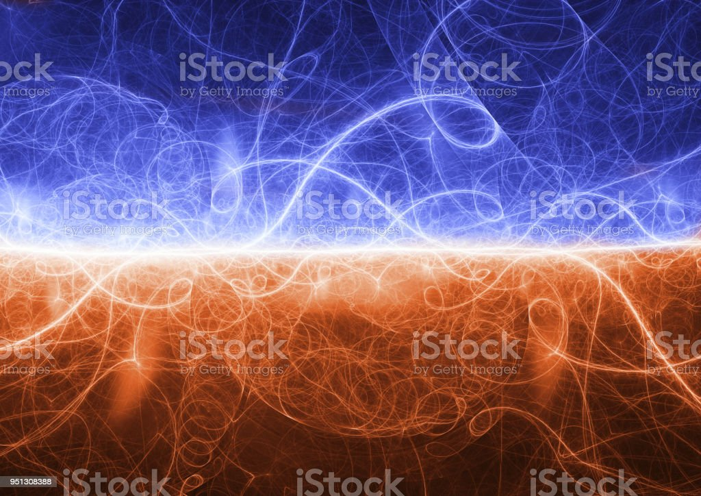 Fire And Ice Plasma Lightning Background Abstract Electrical