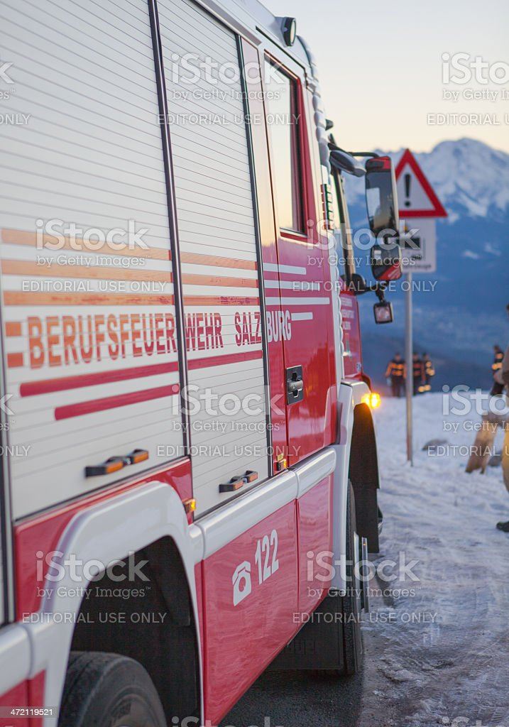 fire and rescue service in the mountains royalty-free stock photo