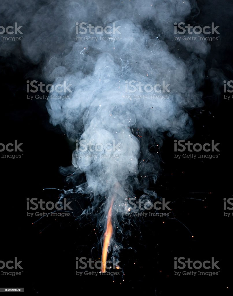 fire and smoke royalty-free stock photo
