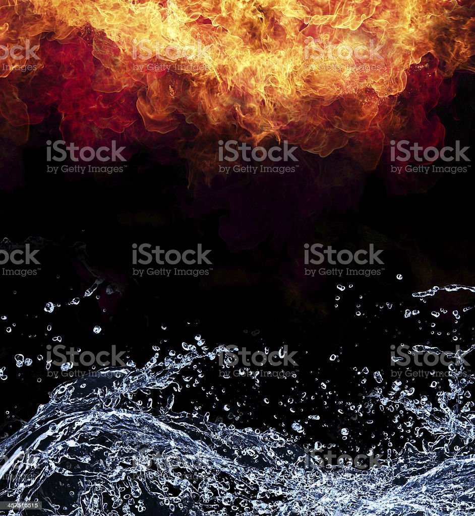 Fire and water stock photo