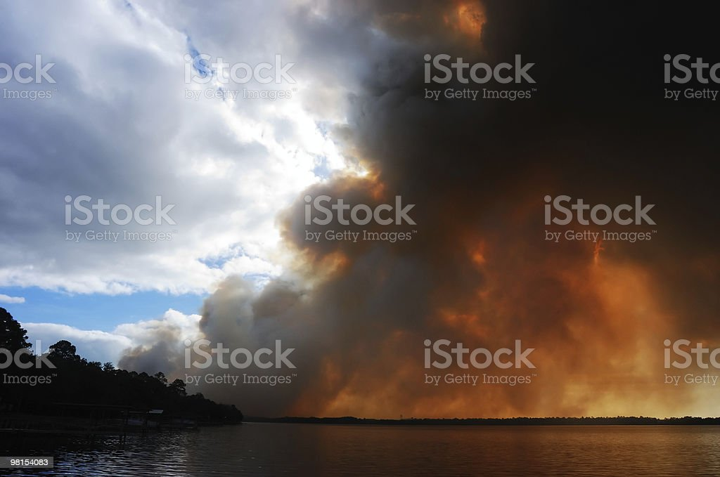 Fire and Water royalty-free stock photo